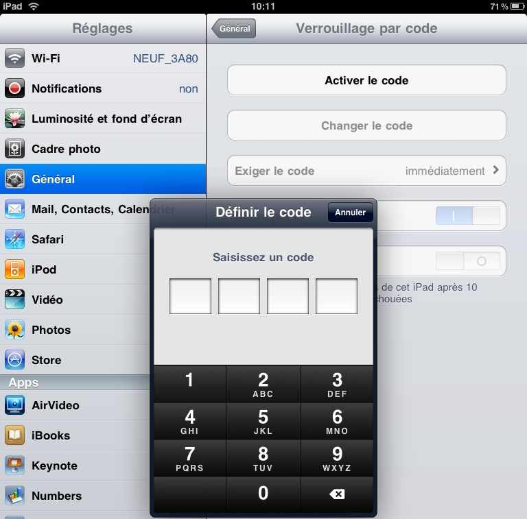 Password iPad